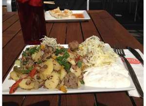Tafelspitz Gröstl mit krautsalat